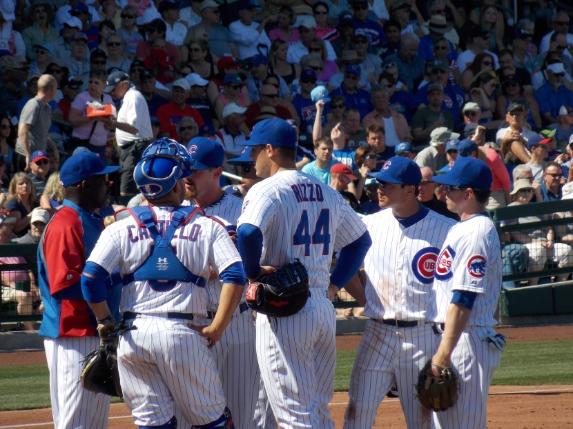 Players try to help Travis Wood figure out the meaning of life in Mesa
