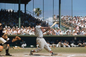 Minnie in 1956 Spring Training, thanks to Sports Illustrated.